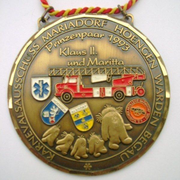 Orden 1993 von Prinz Klaus II und Maritta (Kerschgens)