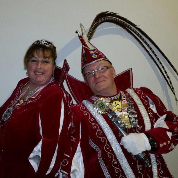 Prinzenpaar 2015 Willi IV. (Herpers) und Silvia (Avdija)
