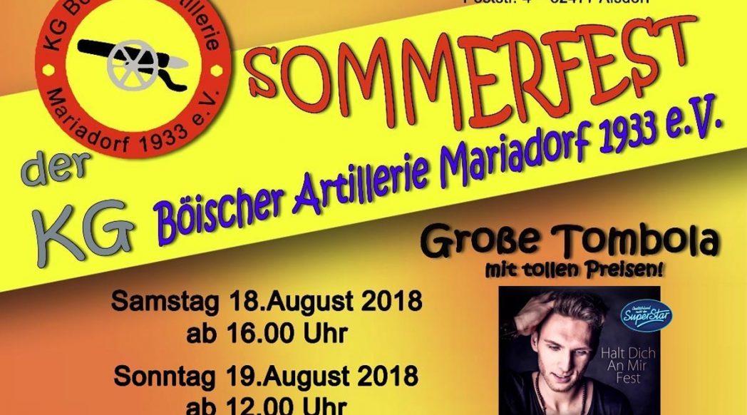 Sommerfest 2018 der KG Böischer Artillerie Mariadorf 1933 e.V.