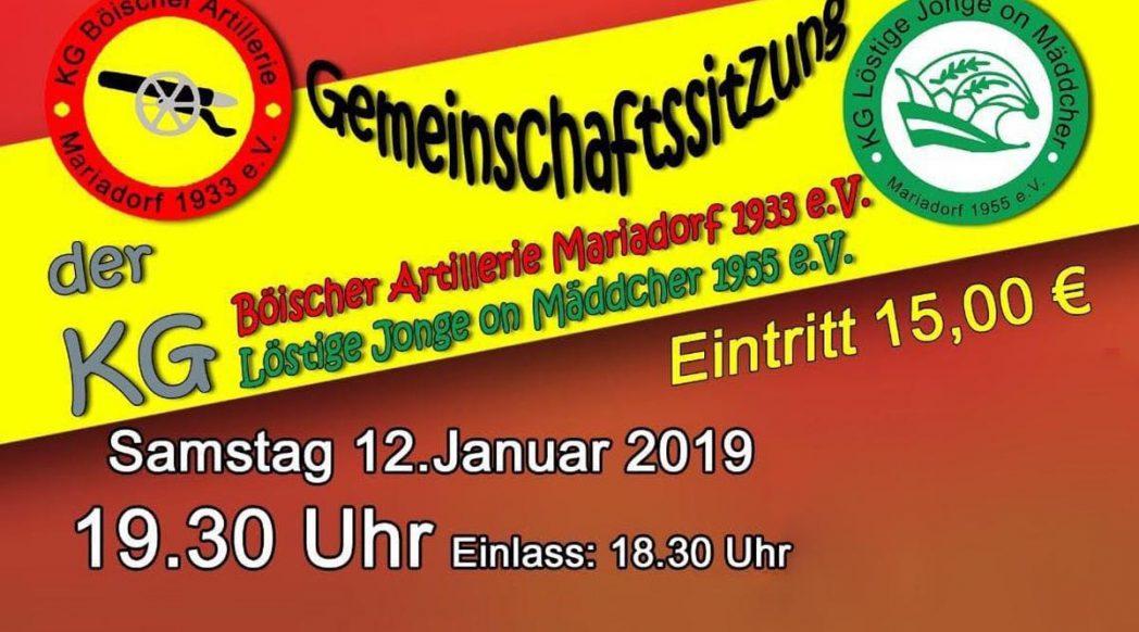Karnevals-Sitzung der KG Böischer Artillerie 2019